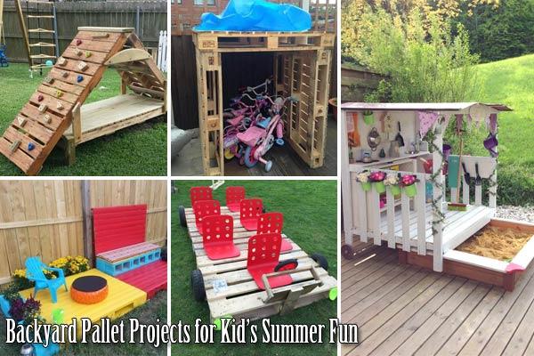 21 No Money Backyard Pallet Diys For Kids Summer Fun Amazing Diy Interior Home Design