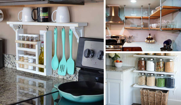 Kitchen Shelves Ideas Fair Interesting And Practical Shelving Ideas For Your Kitchen . Design Inspiration