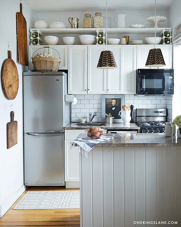If Your Above Cabinet Space Is Tall Enough Add An Extra Shelf For Storage  And Display.