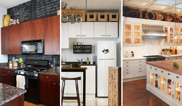 Many Kitchens Had To Face That Awkward E Between The Top Of Kitchen Cabinets And Ceiling How Use It Keep Neat Earance