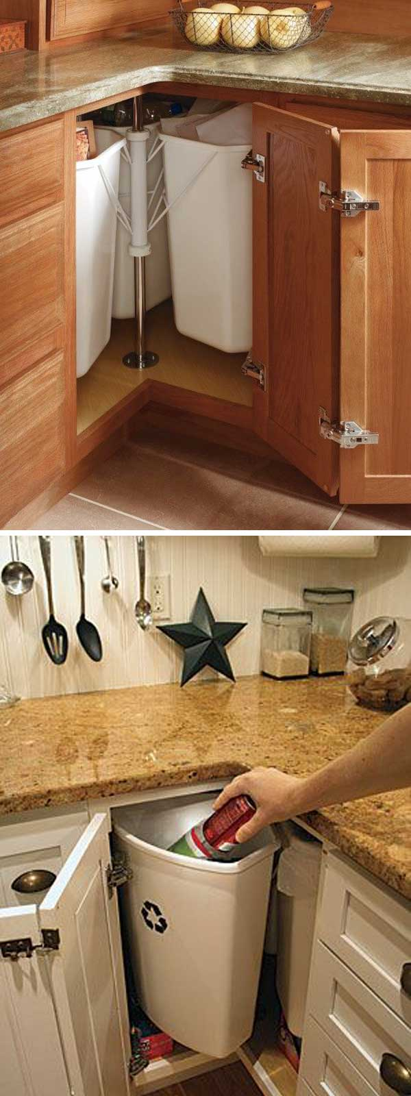 fabulous hacks to utilize the space of corner kitchen cabinets - amazing diy, interior & home design