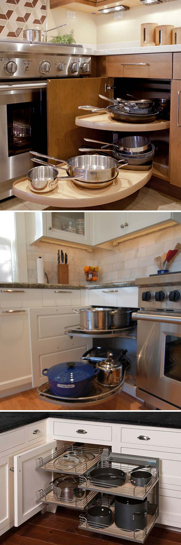 Fabulous Hacks To Utilize The Space Of Corner Kitchen Cabinets Amazing DIY