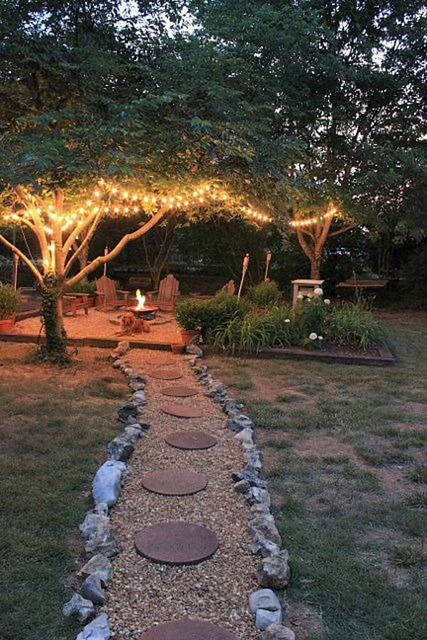 27 DIY String Lights Ideas For Fall Porch and Yard - Amazing DIY, Interior & Home Design