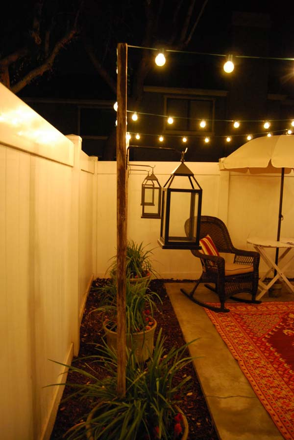 27 DIY String Lights Ideas For Fall Porch and Yard ...