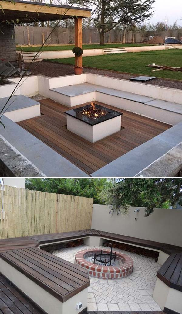 21 Awesome Sunken Fire Pit Ideas To Steal for Cozy Nights ...