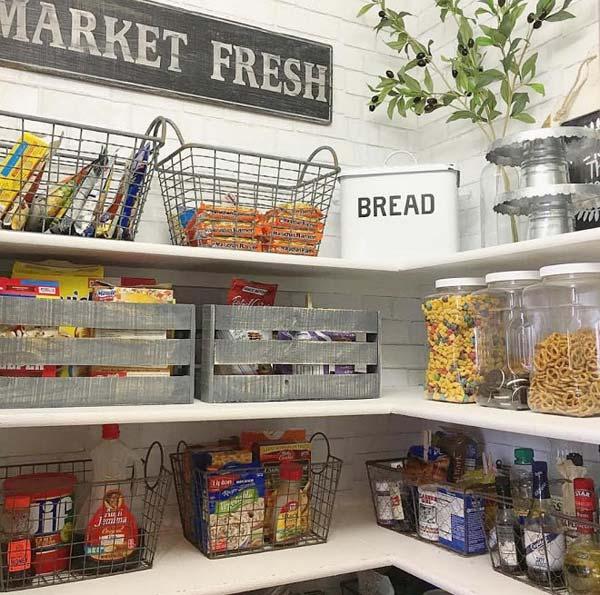 22 Farmhouse-Inspired Kitchen Storage Ideas