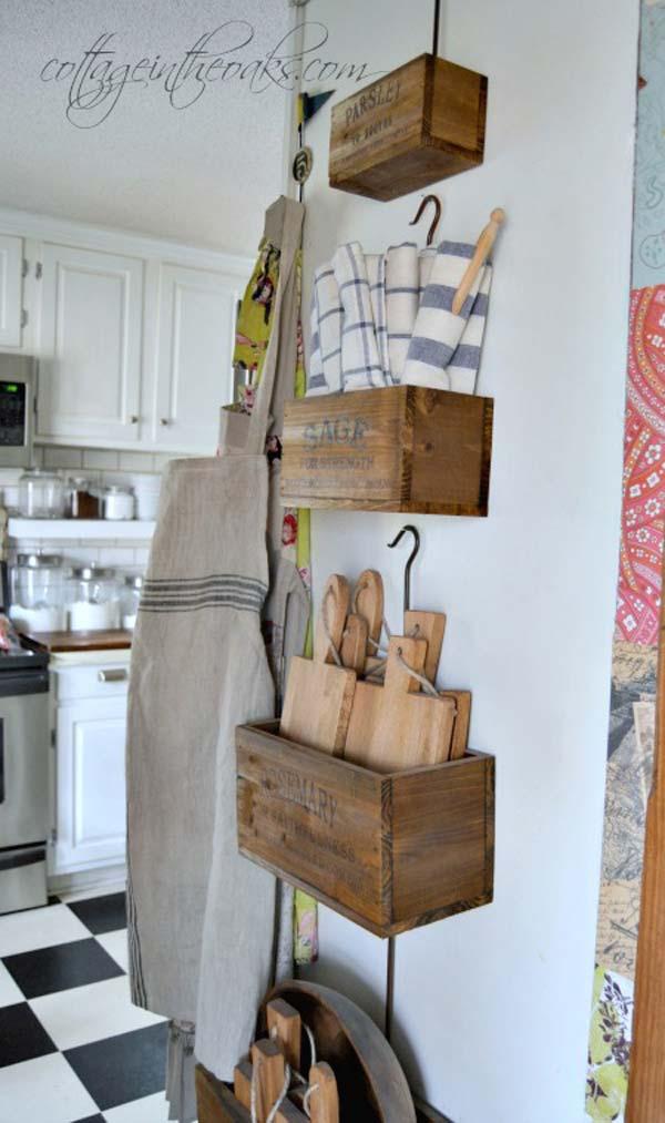22 Farmhouse-Inspired Kitchen Storage Ideas - Amazing DIY ... on Farmhouse:-Xjylc6A2Ec= Rustic Kitchen  id=70592