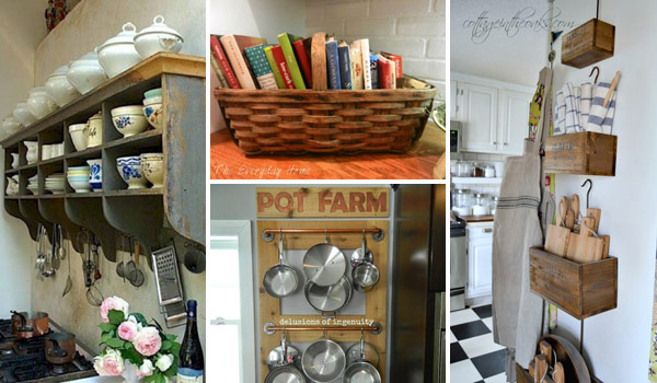 22 Farmhouse-Inspired Kitchen Storage Ideas
