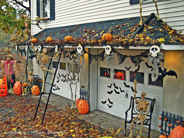 really cool you will find all these unique and spooky garage door decorating ideas below