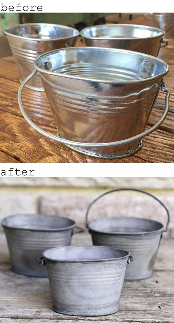 Creative ideas to use galvanized buckets in holiday decor for Christmas tin pails