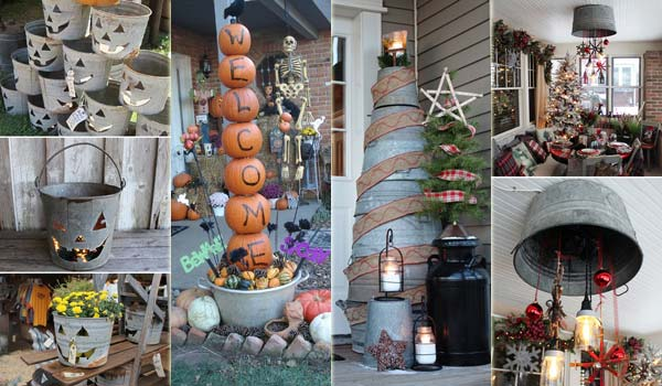 Creative Ideas to Use Galvanized Buckets in Holiday Decor