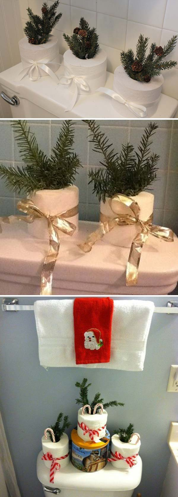 Top 9 Awesome Decorating Ideas to Get Bathroom a Christmas Look