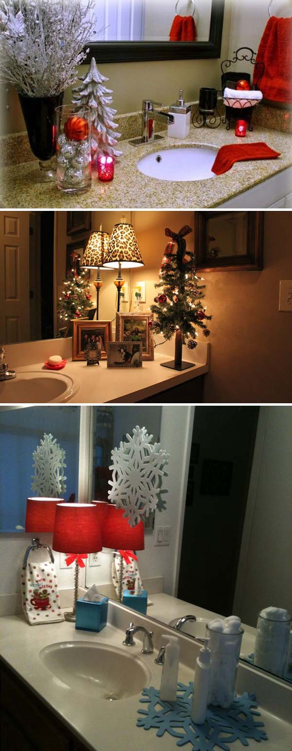 Top 31 Awesome Decorating Ideas To Get Bathroom A Christmas Look Amazing Diy Interior Home Design