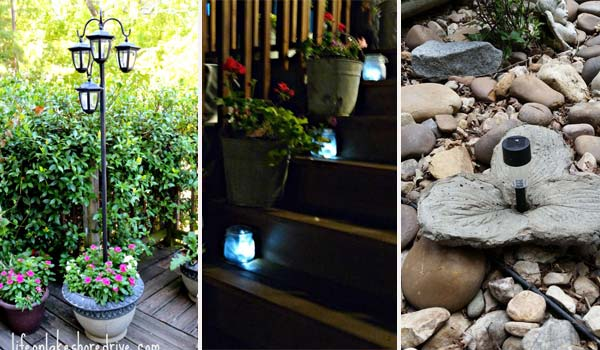 Although it is not the best time to talk about outdoor lighting, the ideas of solar powered light here is definitely worth saving for next year's outdoor ...