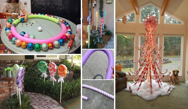 10 exciting christmas decorations created from pool noodles