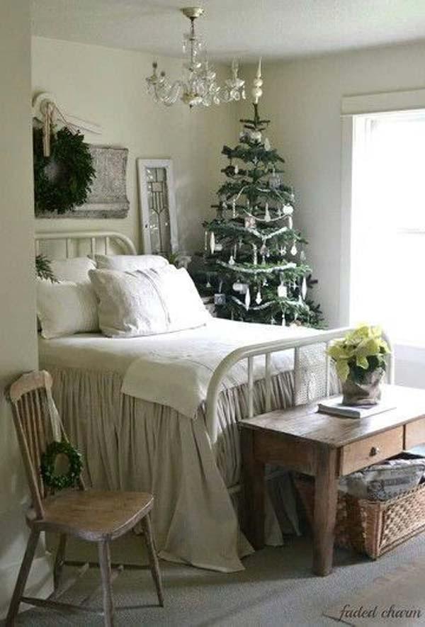 surprising christmas bedroom decorations ideas | 33 Best Christmas Decorating Ideas for Your Bedroom ...
