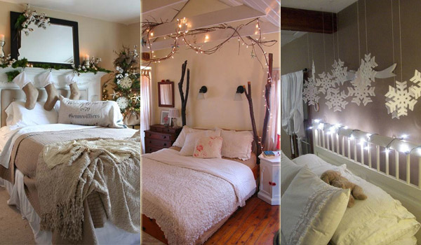 33 best christmas decorating ideas for your bedroom for Sleeping room decoration