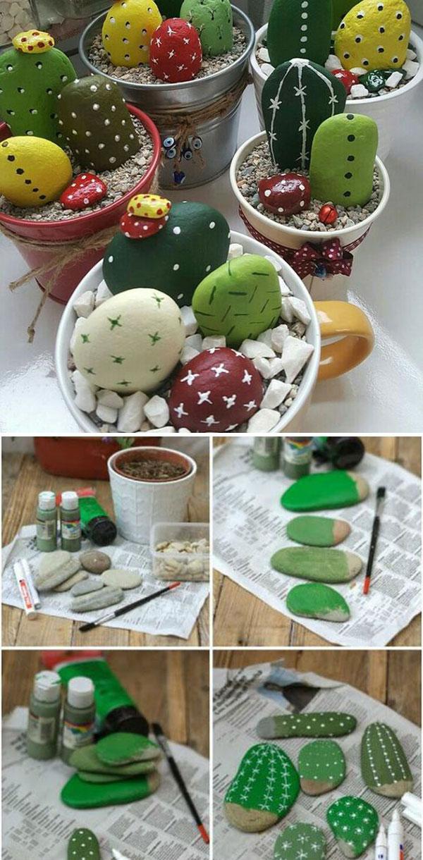 Painted Stone Cactus