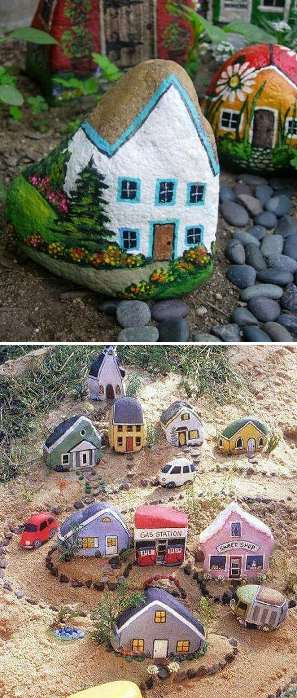 Painted Rock Houses