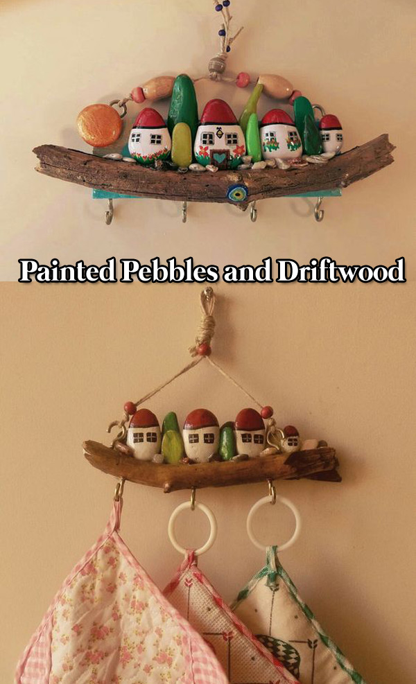 Painted Pebbles and Driftwood
