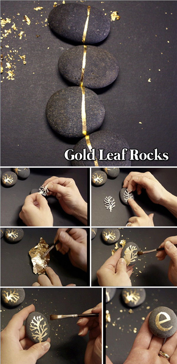 Gold Leaf Rocks