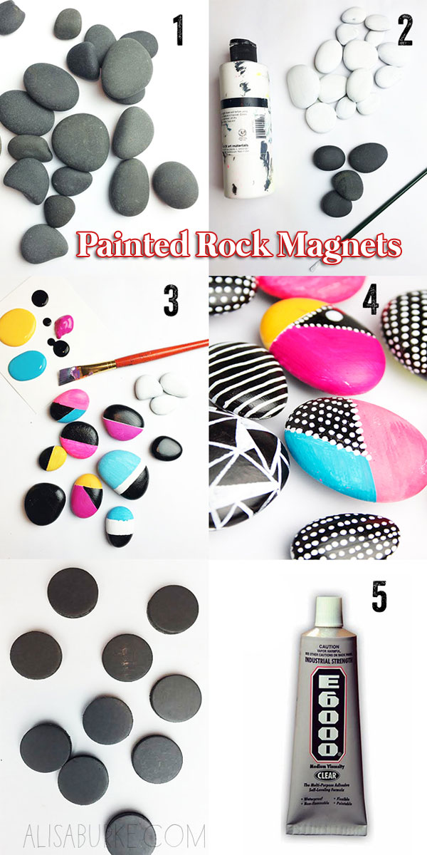 Painted Rock Magnets