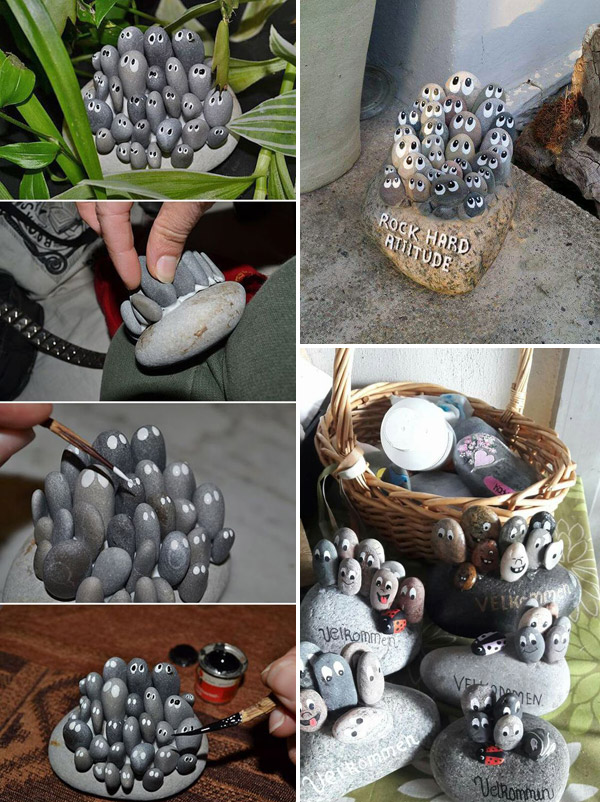 pebble crafts for garden decor