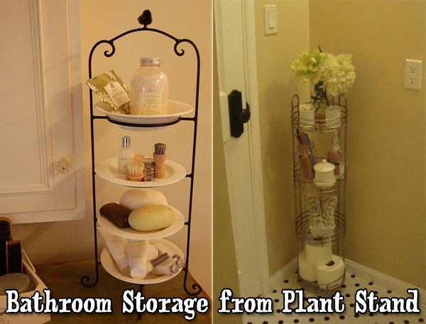 Use a stacked plate rack or Plant Stand to make extra counter storage space