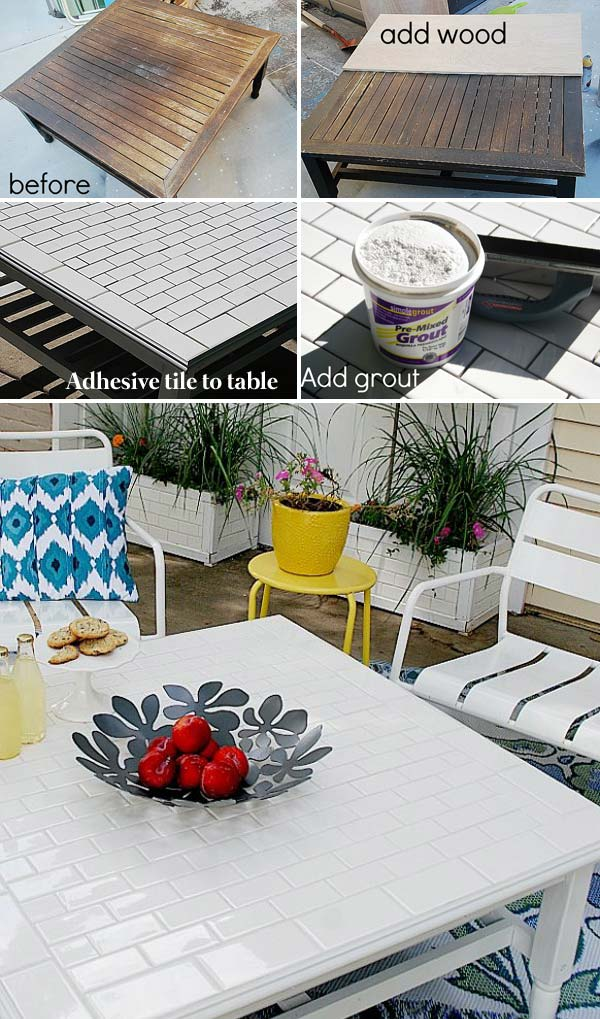 Give an Old Tabletop a Makeover