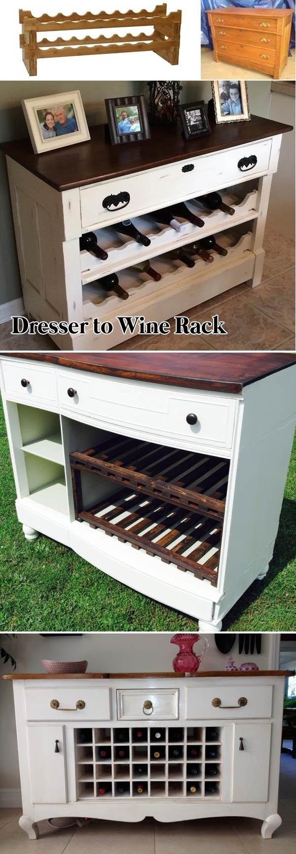 Dresser to Wine Rack