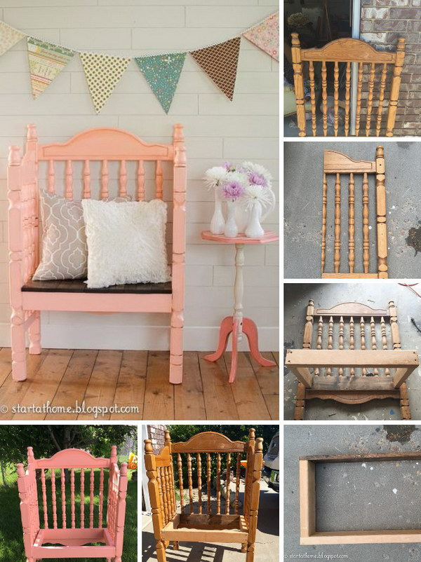 Turn a Crib Into a Bench