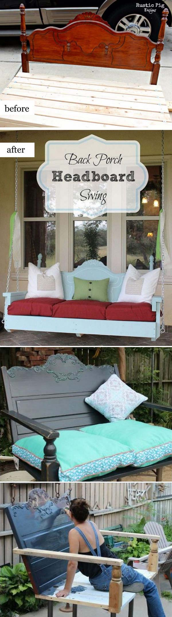 Back Porch Headboard Swing