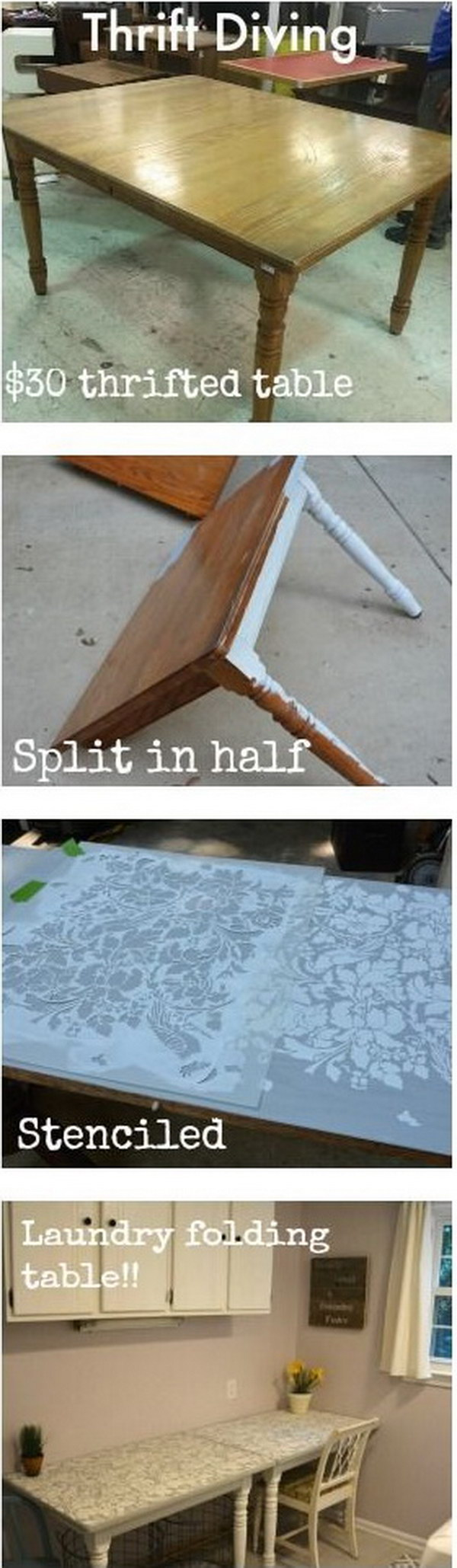 Cut a Table in Half