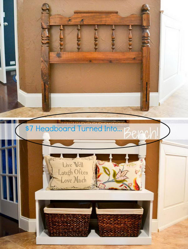 Bench From Recycled Headboard