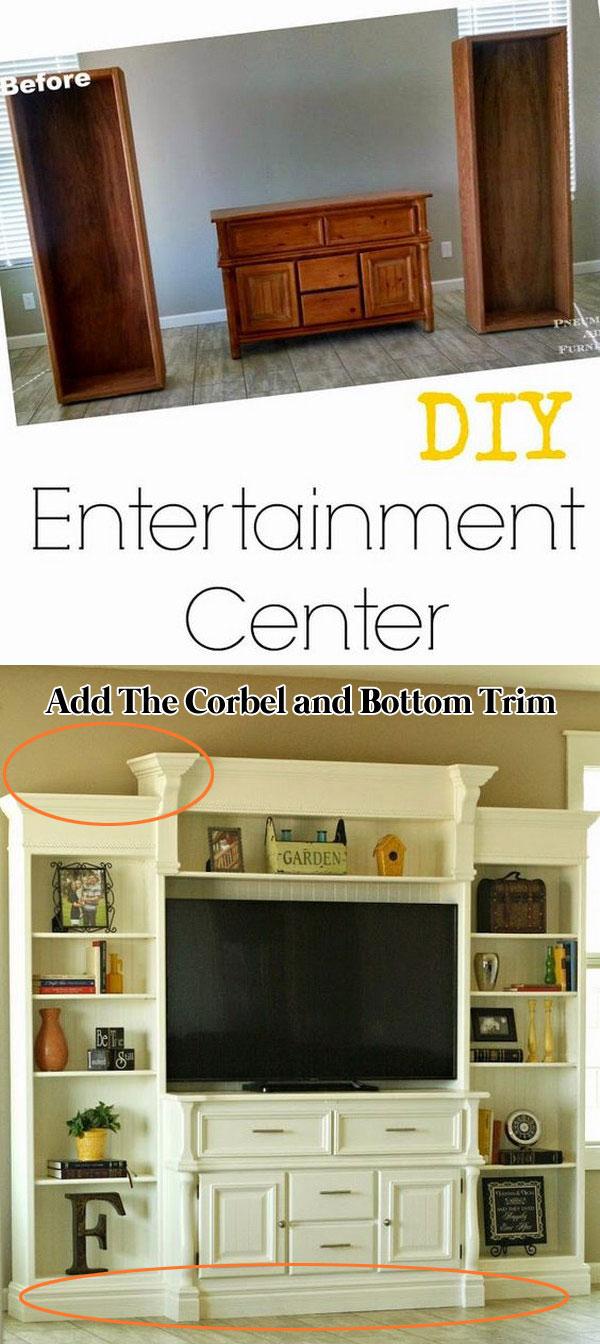 Turn An Old Buffet Into An Entertainment Center