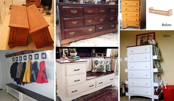 Awesome and Low-budget Ways To Re-purpose Old Furniture