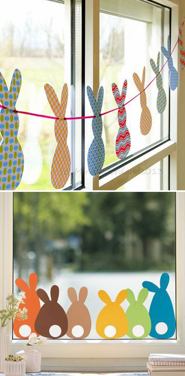 Bunny Garland for Easter Window Decor