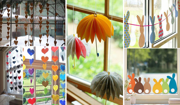 Beautiful and creative window decor is not just for holiday season. You can try a lot of cool decorating ideas for your windows according to different ... & Cute DIY Window Decorating Ways Sure To Amaze You - Amazing DIY ...