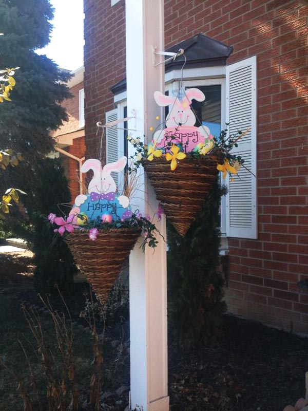 Cute Hanging Bunny Baskets