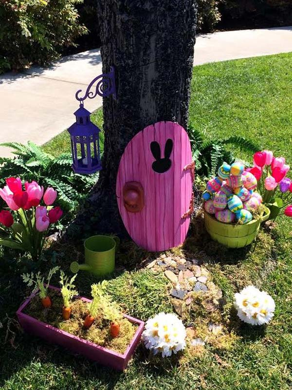 Easter Bunny Door