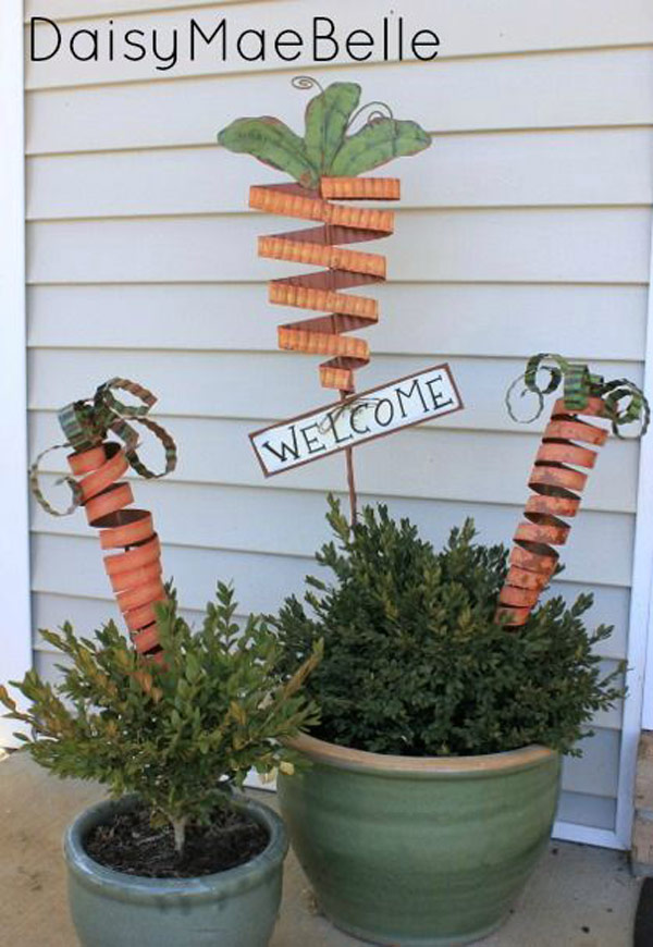 Carrots in the Easter-time Flower Pot