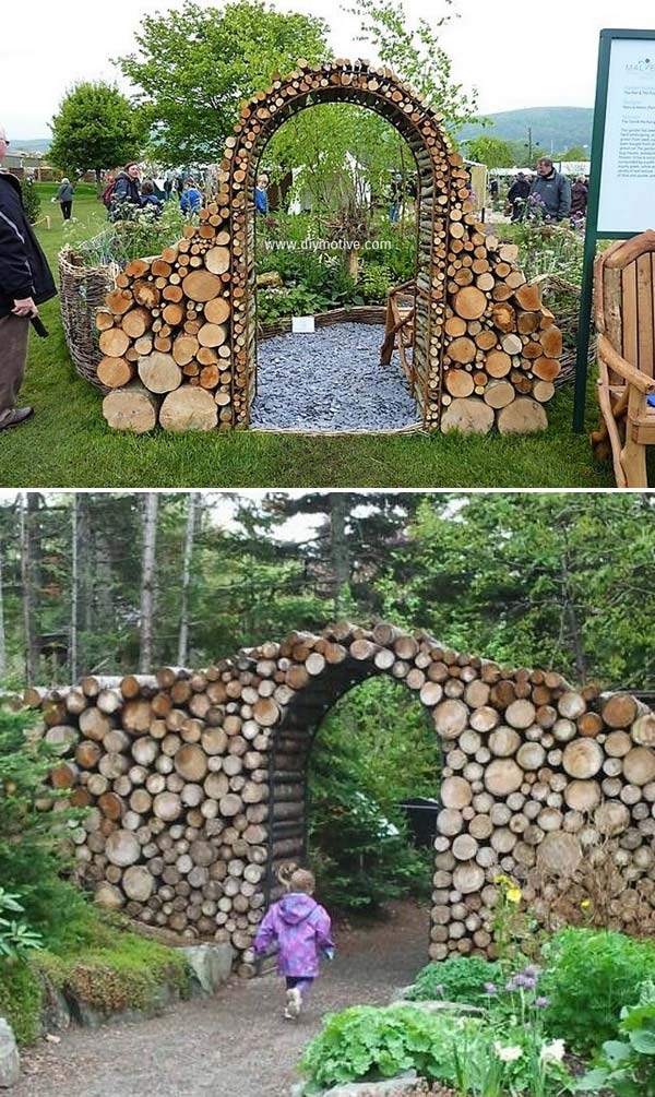 Stunning Tree Log Garden Gate