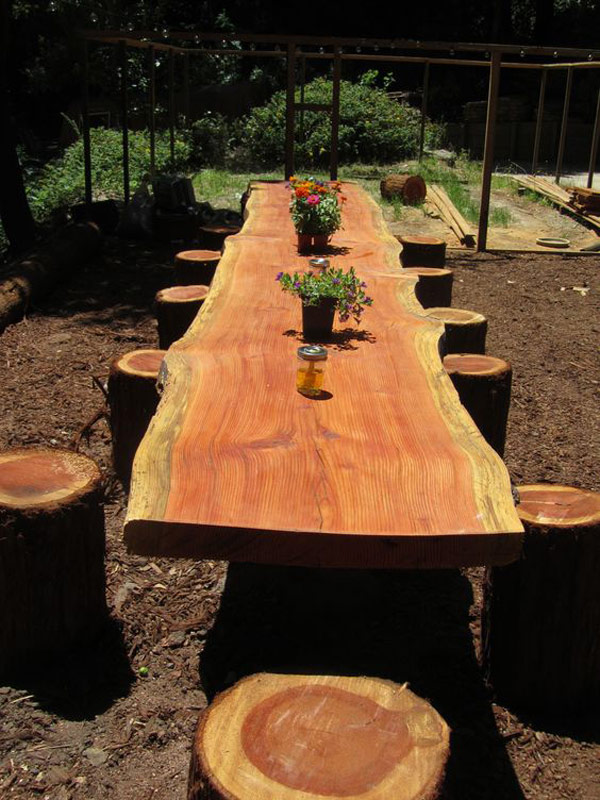 Dining Table from a Fallen Tree