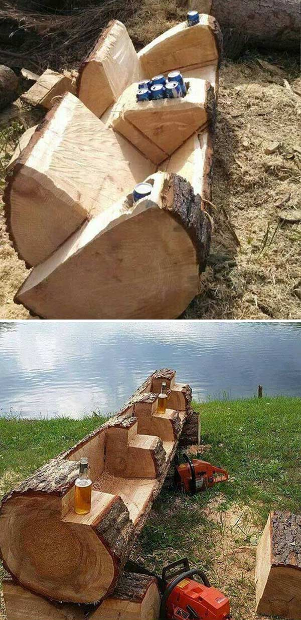 Fallen Tree Log Couch