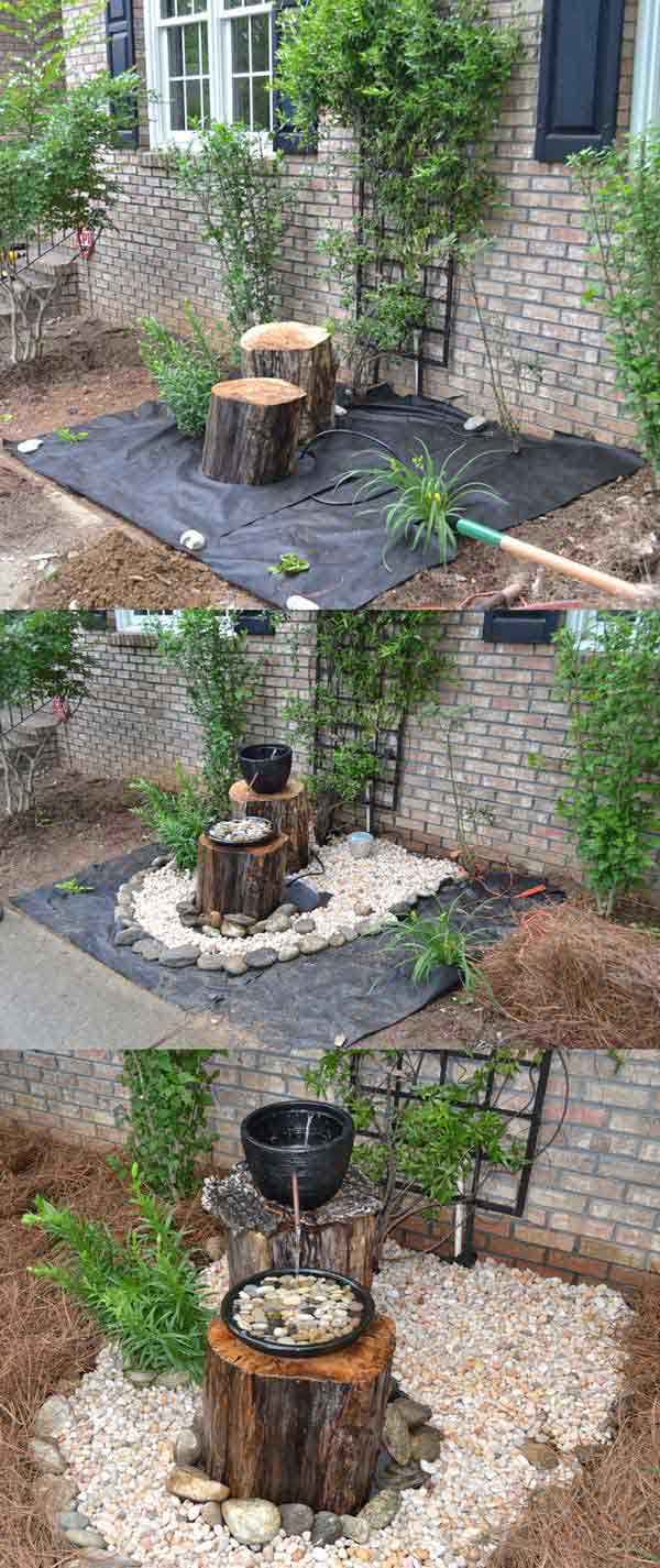 DIY Log Fountain