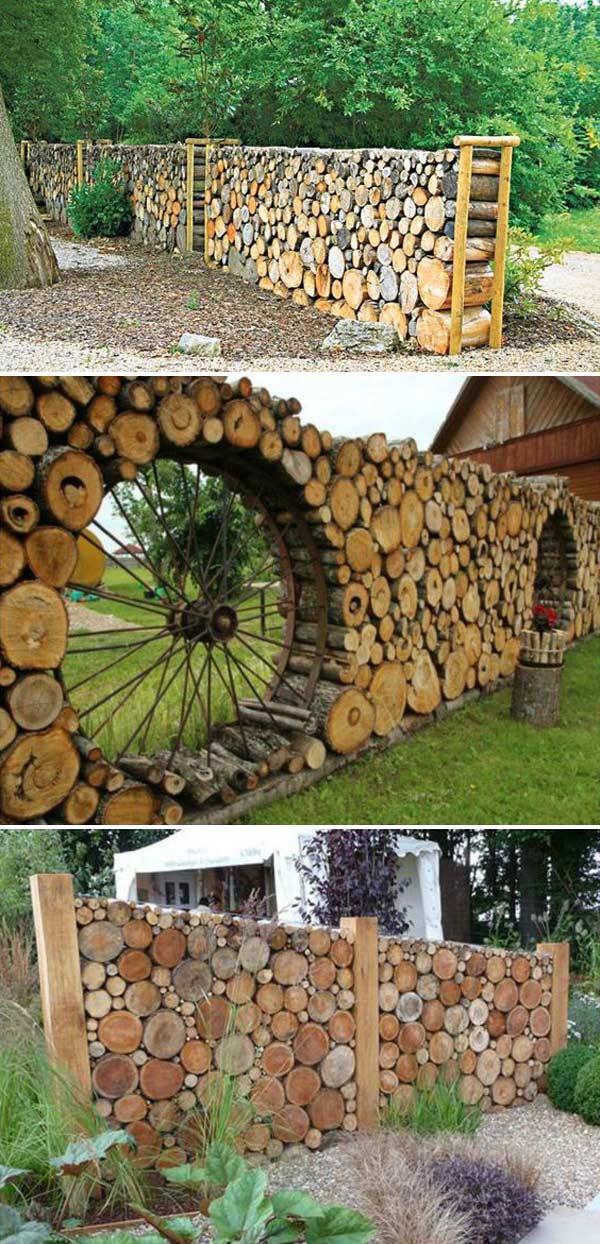 Tree Log Fence
