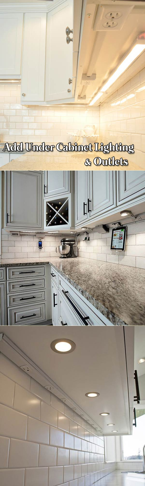 Add Under Cabinet Lighting and Outlets to Your Kitchen