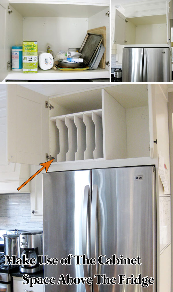 Make Full Use of The Cabinet Space Above The Fridge