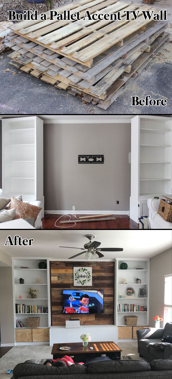Build a Pallet Accent TV Wall