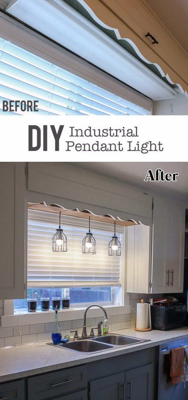 DIY Pendant Cage Light with a Wooden Box
